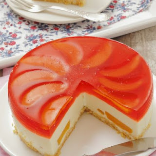 Peach Jelly Cream Cheese Gateau