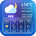 weather clock and widget for android icon