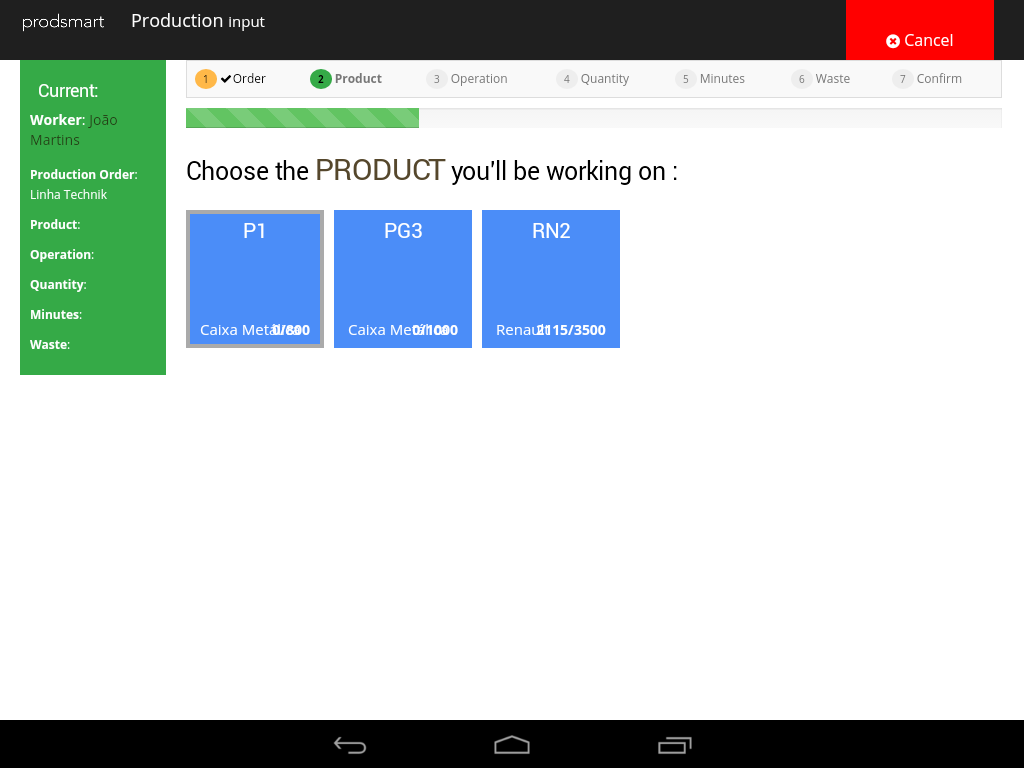 Prodsmart- screenshot