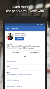 Yammer- screenshot thumbnail