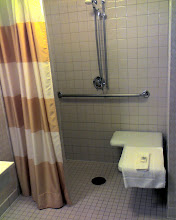 Photo: My coworker was placed in a Handicap Accessible Room and this was his shower...
