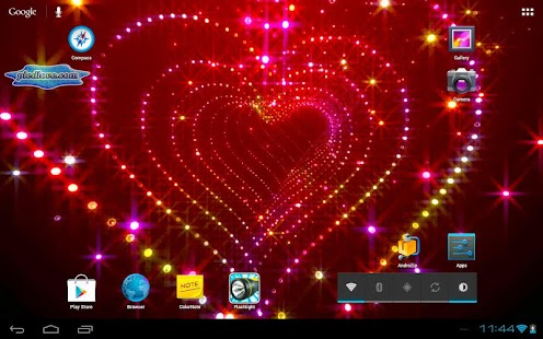 Tunnel Glitter Spark Heart 3D- screenshot thumbnail