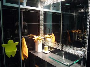 Photo: Common Toilet - Crystal & Steel Mosaic Mirror Frame