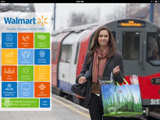 Walmart Investor tablet