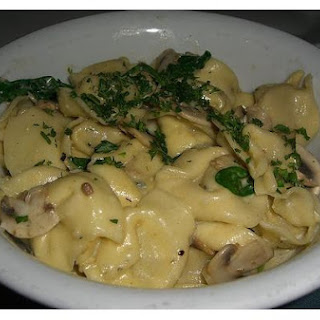 Tortellini In Four Cheese Sauce.