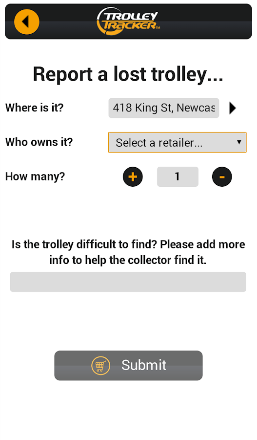 TrolleyTracker- screenshot