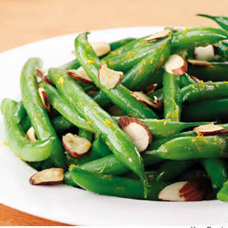 Orange-Scented Green Beans with Toasted Almonds.