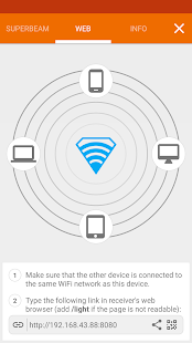 SuperBeam | WiFi Direct Share: miniatura de captura de pantalla