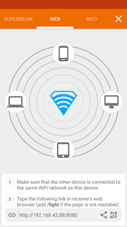 SuperBeam | WiFi Direct Share: captura de pantalla