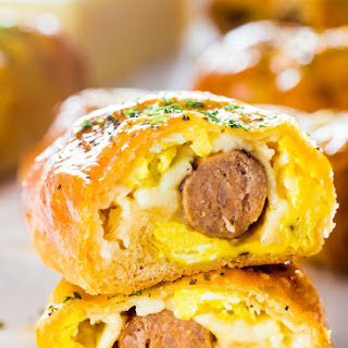 Sausage and Egg Breakfast Rolls.