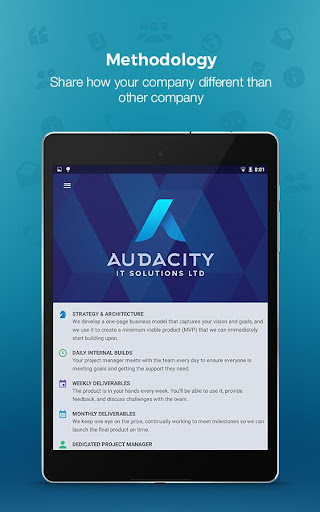 Audacity - Marketing App 1.0 screenshots 13