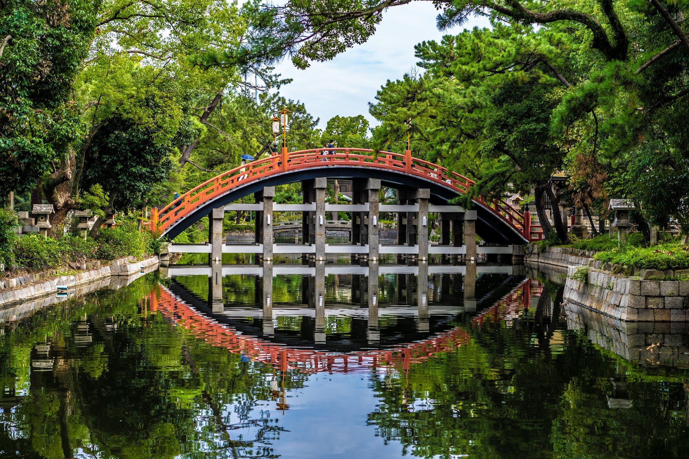 Sumiyoshi Taisha Shrine Sorihashi Bridge1