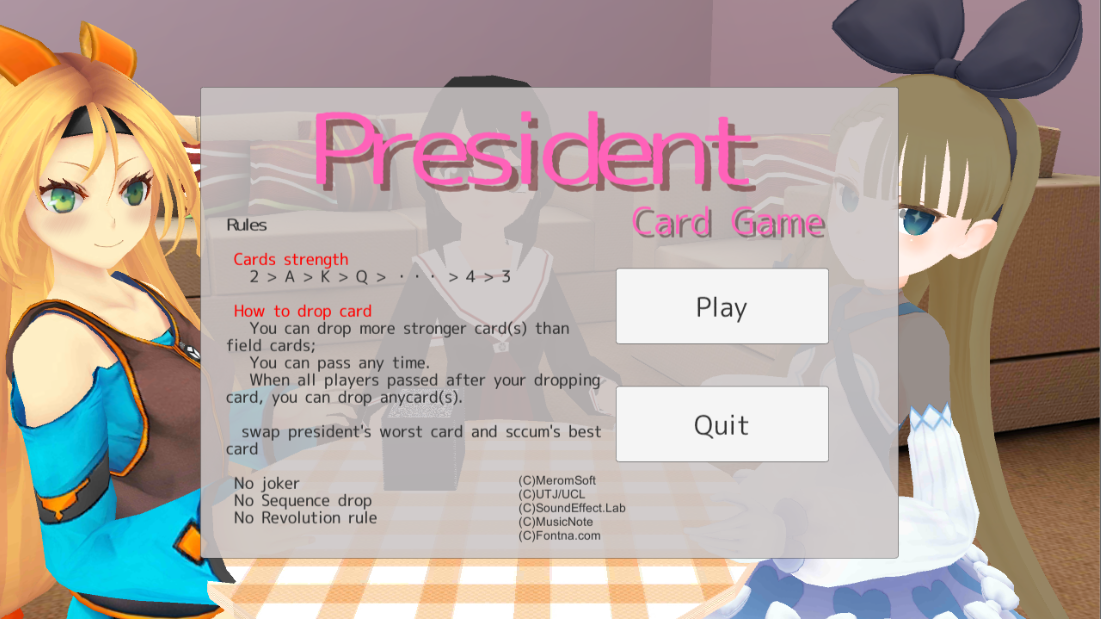 President Card Game- screenshot