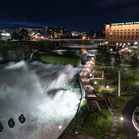 Spokane falls by Matt  Glenn - City,  Street & Park  City Parks