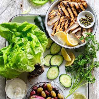 Mediterranean Lettuce Wrap.