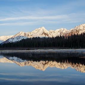 Reflective Reflection by Rev Marc Baisden - Landscapes Mountains & Hills ( adventure, mountains, reflection, seasons, alaska, seward, travel,  )