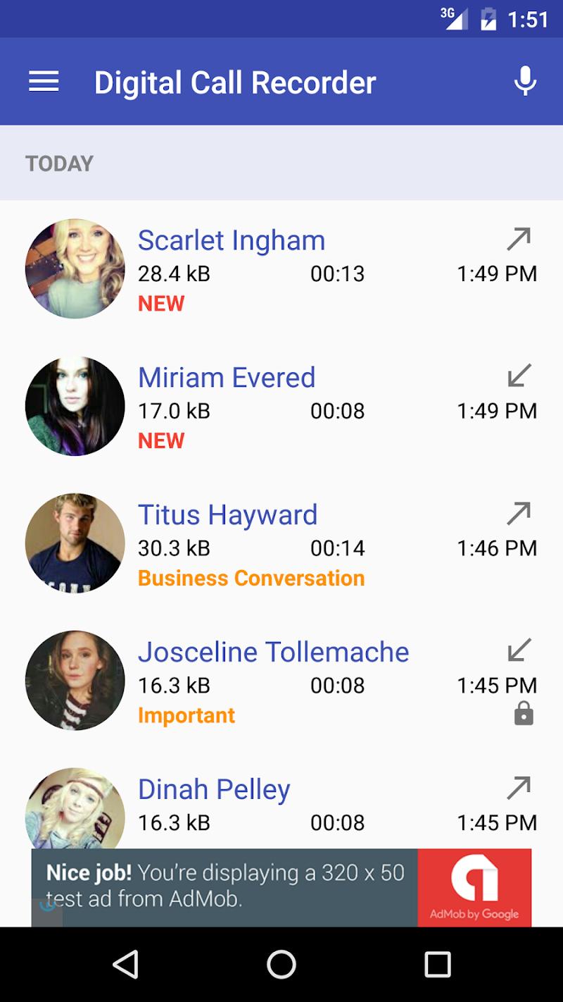Digital Call Recorder 3 Screenshot