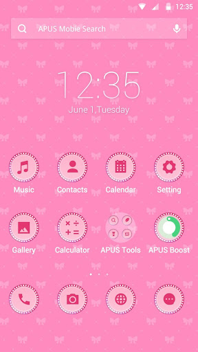 Pink Love theme for APUS