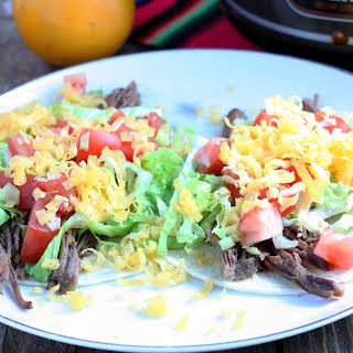 Slow Cooker Venison Carnitas Tacos or Tostadas.