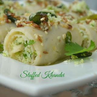 faraali Stuffed Khandvi
