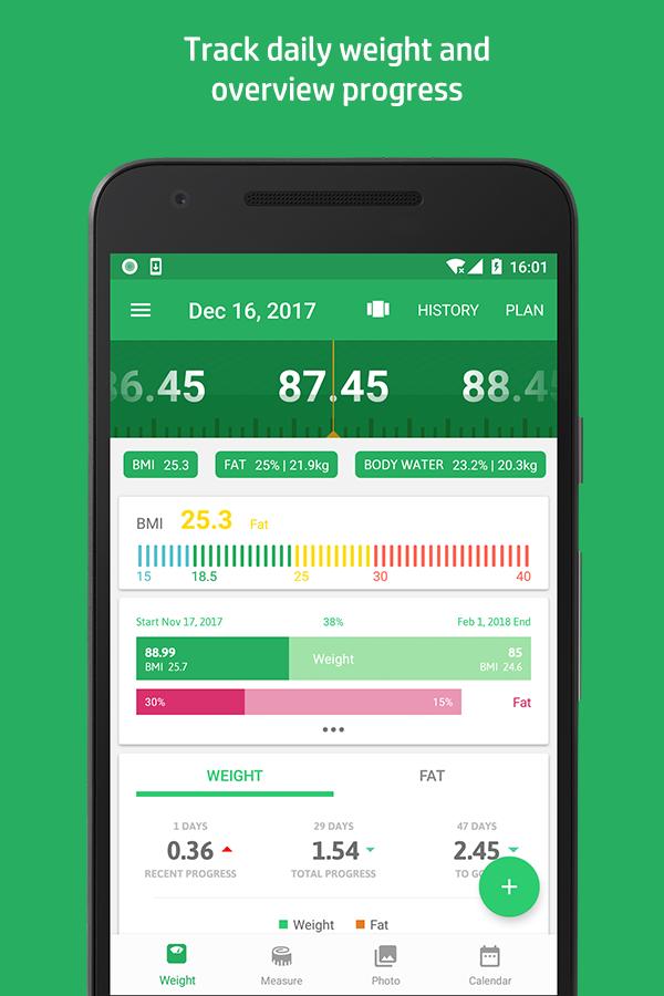 Weight Track Assistant - Free weight tracker Screenshot