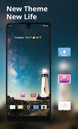Space galaxy building landscape theme APK screenshot thumbnail 1