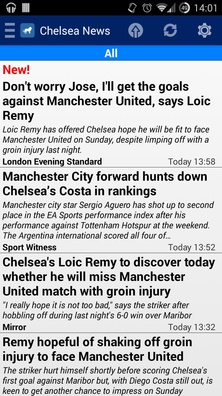 Скриншот Chelsea News 2