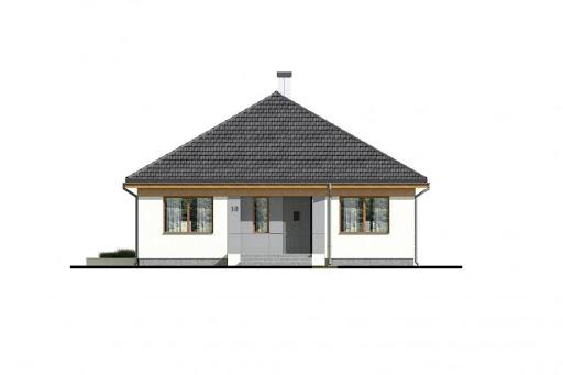 Dom D10 - Elewacja przednia