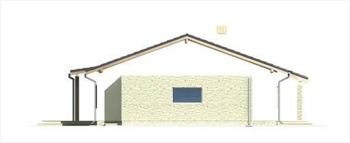 Antek wersja C z podwójnym garażem - Elewacja prawa
