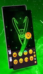 Green Villain Keyboard Theme - náhled