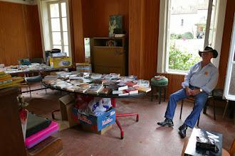 Photo: Brocante livres au RDC du Pavillon