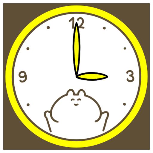 귀여운 시계 Rabbit 個人化 LOGO-玩APPs