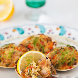 Old-Fashioned Stuffed Baked Clams.