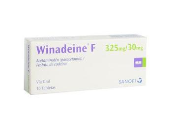 Acetaminofen + Codeina Winadeine F 325/30Mg  Tabletas Caja X10Tab. Sanofi