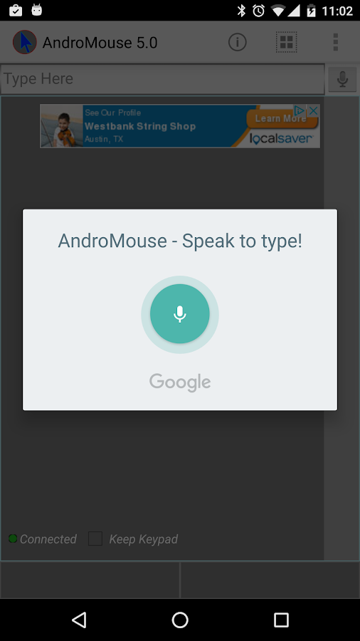 Remote Mouse and Keyboard- screenshot
