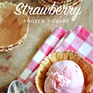 Strawberry Frozen Yogurt.