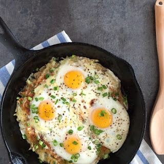 Cheesy Hash-Brown Eggs