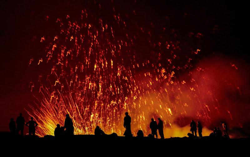 """"""" Sul bordo del cratere """" Erta Ale il vulcano di Pensatore"""