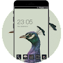 Peacock launcher Theme: Purple Feather Wallpaper APK icon