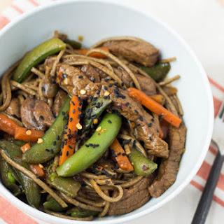 Soba Noodle Beef and Veggie Stir Fry