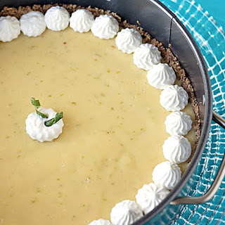 Key Lime Cheesecake with a Hazelnut Crust