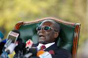 Zimbabwe's former president Robert Mugabe helds a news conference at his private residence in Harare, Zimbabwe, on July 29, 2018, ahead of the elections where he announced that he will not be voting for Zanu PF.