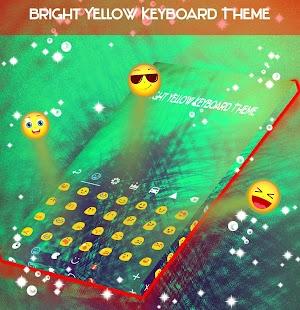 Jasně žlutá klávesnice Téma - náhled