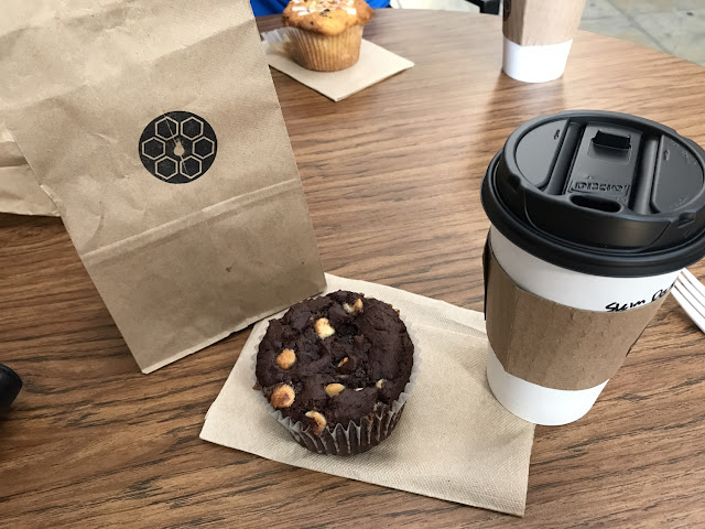 Double Chocolate muffin and chocolate almond muffin -- both worth trying!!