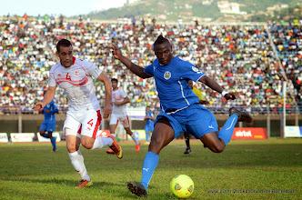 Photo: Alhassan 'Crespo' Kamara  - vs Tunisia, June 2013 (Pic: Darren McKinstry)