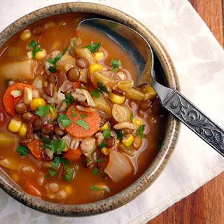 Barley Lentil Harissa Vegetable Stew