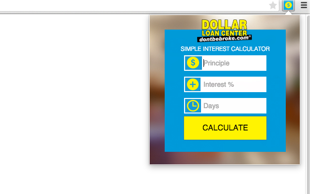 Dollar Loan Center Interest Calculator