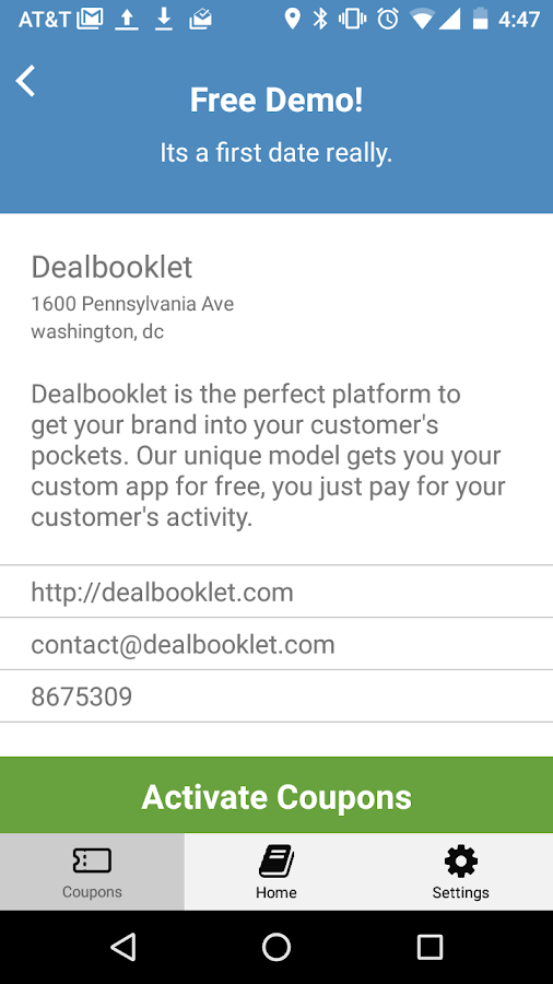 Dealbooklet- screenshot