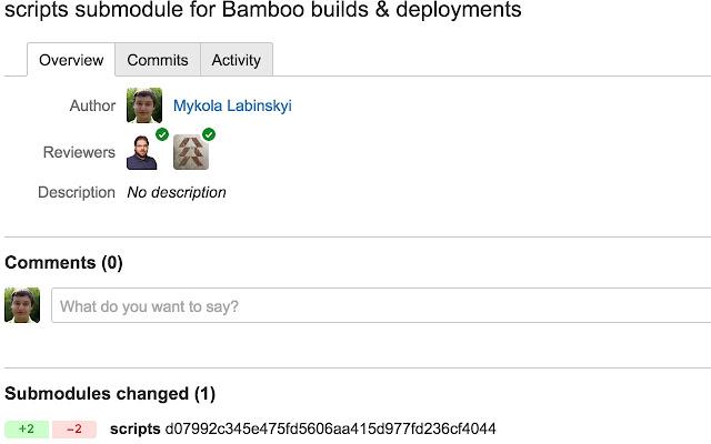 Bitbucket pull request Submodule Checker