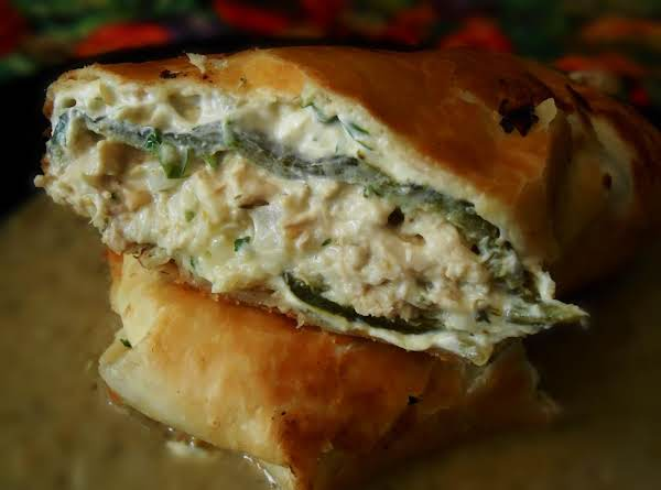 Green Chicken Chimichanga